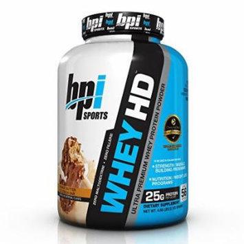 BPI Sports Whey HD Ultra Premium Protein Powder, Peanut Butter Ice Cream Bar, 4.68 Pound