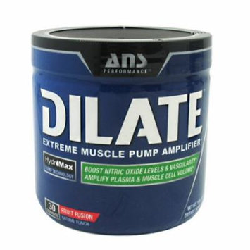 ANS Performance Dilate, Caffeine-Free Pre Workout & Nitric Oxide Booster, Extreme Muscle Pump Supplement, Fruit Fusion,