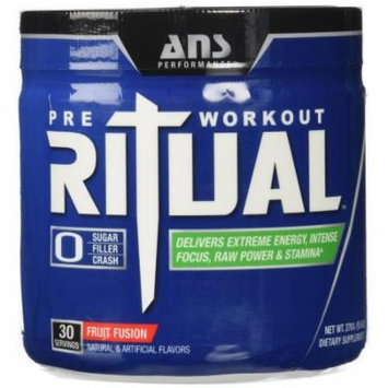 ANS Performance Ritual Pre-Workout, Delivers Extreme Energy with Intense Focus and Raw Power, Sugar-Free Fruit Fusion, 2