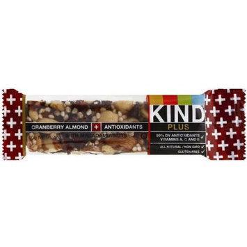 KIND Cranberry Almond + Antioxidants Plus Bar, 1.4 oz, (Pack of 12)