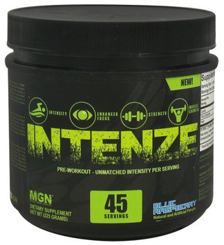 Muscle Gauge Nutrition - Intenze Pre-Workout Blue Raspberry 45 Servings - 225 Grams