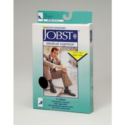 Jobst Men's 20-30 mmHg Closed Toe Knee High Support Sock Size: Medium, Color: Brown