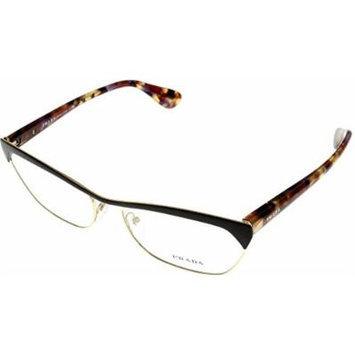 Prada Prescription Eyeglasses Frame Women PR57Q QE6 101 Rectangular