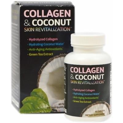 Applied Nutrition Collagen & Coconut Skin Revitalization Supplements-60 Tablets