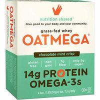 Oatmega Chocolate Mint Crisp Protein Bars, 1.8 oz-4 count, Gluten-Free, Soy-Free, Egg-Free, Omega-3s, 5g Sugar,