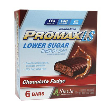 Promax Nutrition Lower Sugar 12g Protein Energy Bars, Chocolate Fudge, 6 ea