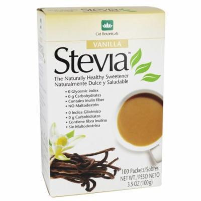 Cid Botanicals - Stevia Flavor Packets Vanilla - 3.5 oz.