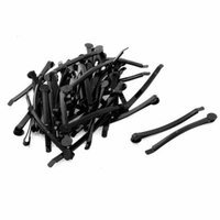 Women 63mm Long Metal Flat Top DIY Craft Hairclip Hairpin Hair Clip Black 50pcs