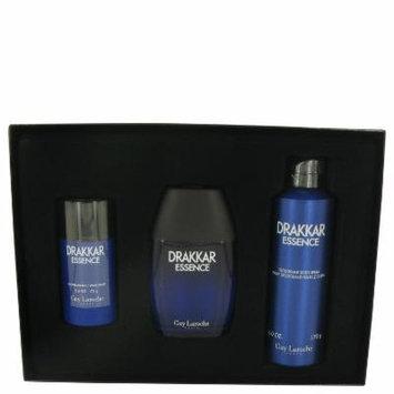 Drakkar Essence for Men by Guy Laroche, Gift Set - 3.4 oz Eau De Toilette Spray + 6.7 oz Body Spray + 2.6 oz Deodorant Stick