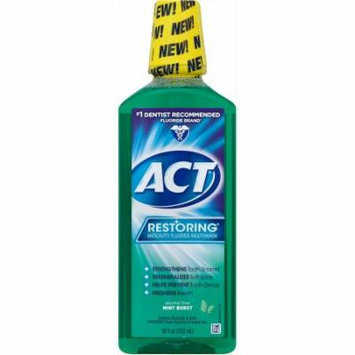 ACT Restoring Mint Burst Anticavity Fluoride Mouthwash, 18 oz