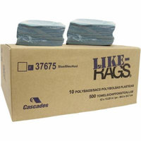 Cascades Like-Rags Spunlace Cloth Replacement Towels, Blue, 50 count, (Pack of 10)
