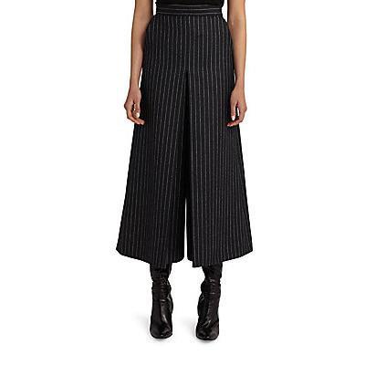 Saint Laurent Pinstripe Wool Culottes - Anthracite