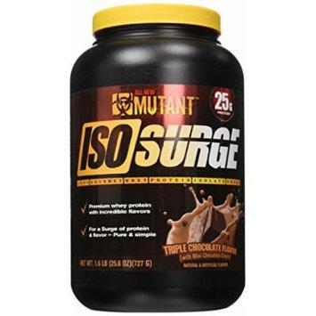 Mutant Iso Surge Protein Isolate Powder, Triple Chocolate, 1.6 Pound