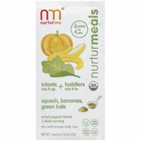 NurturMe NurturMeals Squash, Bananas, Green Kale Dried Organic Food, .67 oz, 8 count
