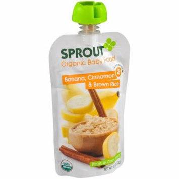 Sprout Banana, Cinnamon & Brown Rice Fruit & Grain Blend Organic Baby Food, 4.0 oz