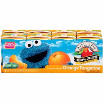 Apple & Eve Sesame Street Cookie Monster's Orange Tangerine Juice, 4.23 fl oz, 8 count, (Pack of 5)