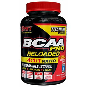 SAN BCAA Reloaded 4:1:1 Nutritional Supplement, 0.25 Pound