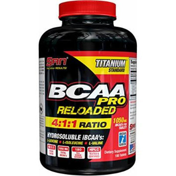 SAN BCAA Reloaded 4:1:1 Nutritional Supplement, 0.500 Pound