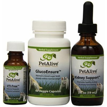 Petalive Kidney Support; Uti-free And Glucobalance Ultrapack (one Of Each), 5 Units