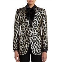 Saint Laurent Star Jacquard Blazer - Black/Gold