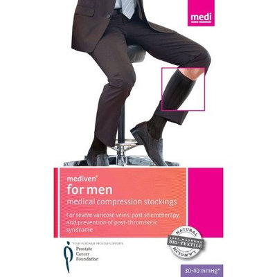 Mediven for Men 30-40 mmHg Knee High Support Socks Color: Navy 3, Size: V, Length: Standard