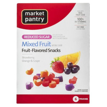 market pantry Market Pantry Reduced Sugar Mixed Fruit-Flavored Snacks 6 pk