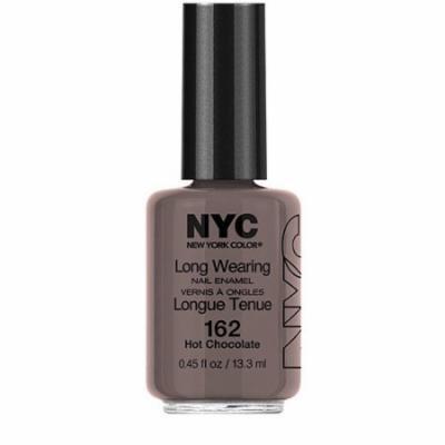 N.Y.C. New York Color Long Wearing Nail Enamel, 162 Hot Chocolate, 0.45 fl oz