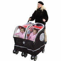 Warm as a Lamb - Twin Stroller Winter Coat Cover, Black