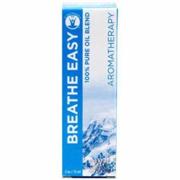Gurunanda Breathe Easy 100% Pure Essential Oil Blend, .5 oz