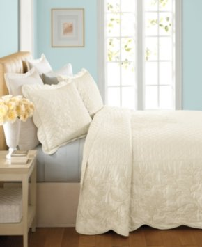 Martha Stewart Collection Pressed Flowers Twin Bedspread