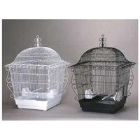 Prevue Pet Products 220W Jumbo Scrollwork Cage - White