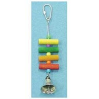 Bobs Wood 6 1 Bird Toy With Dowel Plastic Bell