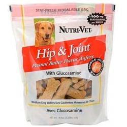 Nutri-Vet Hip & Joint Formula Wafers Peanut Butter