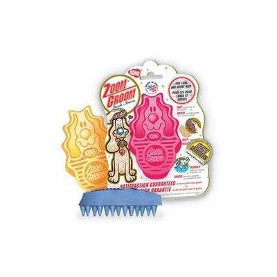 Kong Company Zoom Groom Firm Rubber Dog Brush Raspberry