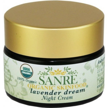 SanRe Organic Skinfood - Lavender Dream - 100% USDA Organic Lavender and Calendula Night Cream For Dry to Normal Skin