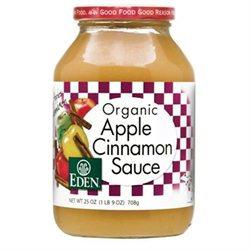 Eden Organic Eden Foods Organic Apple Cinnamon Sauce 25 oz