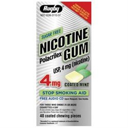 Watson Rugby Labs Nicotine Gum 4 mg, 40 Chewing Pieces, Watson Rugby
