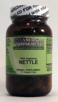 Nettles No Chinese Ingredients American Supplements 90 VCaps