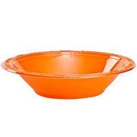 Party Dimensions 89821 12 Oz Solid Orange Plastic Bowl - 576 Per Case