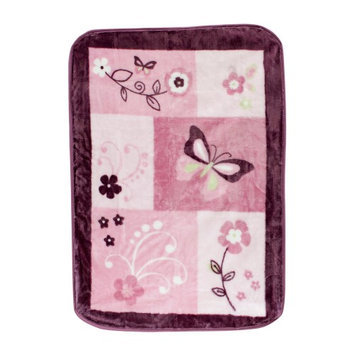 Lambs & Ivy Bedtime Lambs & Ivy Butterfly Bloom Warm & Cozy Blanket