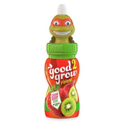good2grow Strawberry Kiwi 6 oz. Fruit Juice with Spill-Proof TMNT SippaTop Bottle Topper