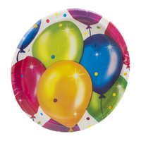 Party Creations Birthday Balloons Plates