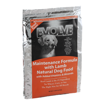 Evolve Natural Dog Food Maintenance Formula With Lamb