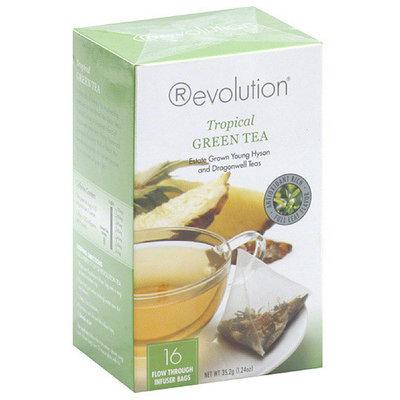 Revolution Tea Tropical Green Tea, 16 count, (Pack of 6)
