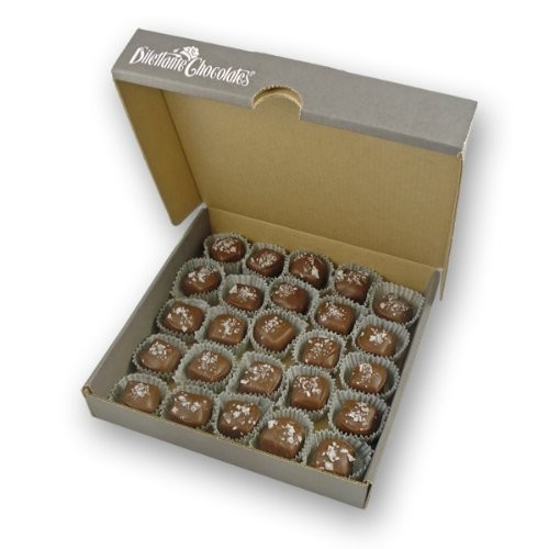 Salted Caramels in Milk Chocolate - 25 Piece Bulk Box - by Dilettante
