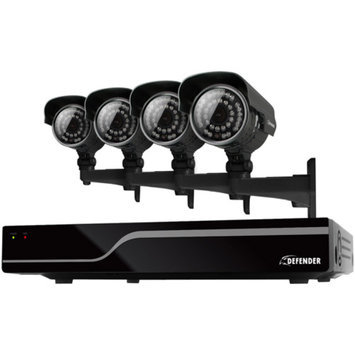 Defender Sentinel 8-Channel Smart Security DVR with 4 Cameras and 500GB HDD