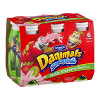 Dannon Danimals Smoothie Drinks Strikin' Strawberry Kiwi - 6 CT