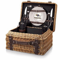 NFL Picnic Basket Set by Picnic Time, Champion - Baltimore Ravens, Black