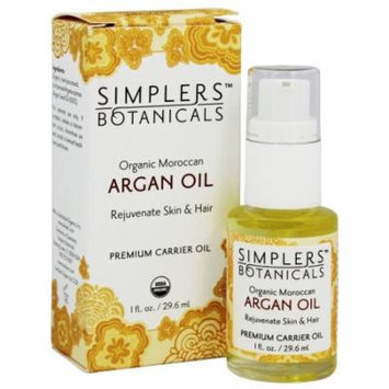 Simplers Botanicals - Organic Moroccan Argan Carrier Oil - 1 oz.