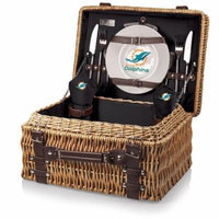 NFL Picnic Basket Set by Picnic Time, Champion - Miami Dolphins, Black